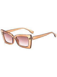 Unisex Vintage Stylish Sunglasses - Coffee
