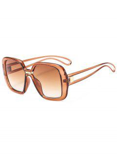 Stylish Oversize Square Sunglasses - Coffee