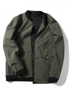 Applique Zip Up Jacket - Camouflage Green L