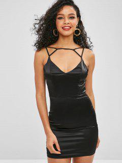 Vestido Ajustado De Cami De Las Partes Brillantes - Negro M