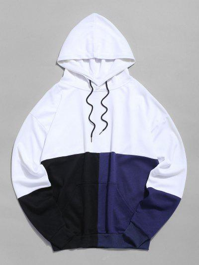 Color Block Pouch Pocket Drawstring Hoodie