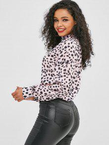 df70bc1721553b Leopard High Neck Pullover Blouse; Leopard High Neck Pullover Blouse ...