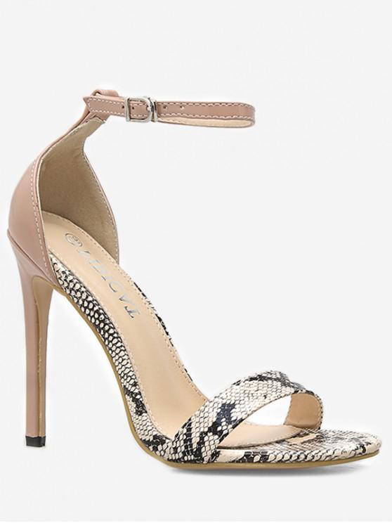 38fe6dca23 41% OFF] 2019 Snake Print Ankle Strap Sandals In MULTI | ZAFUL