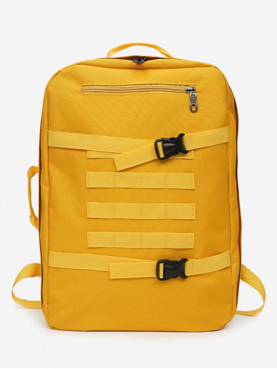 fashion Multi-usage Outdoor Sport Nylon Backpack - YELLOW