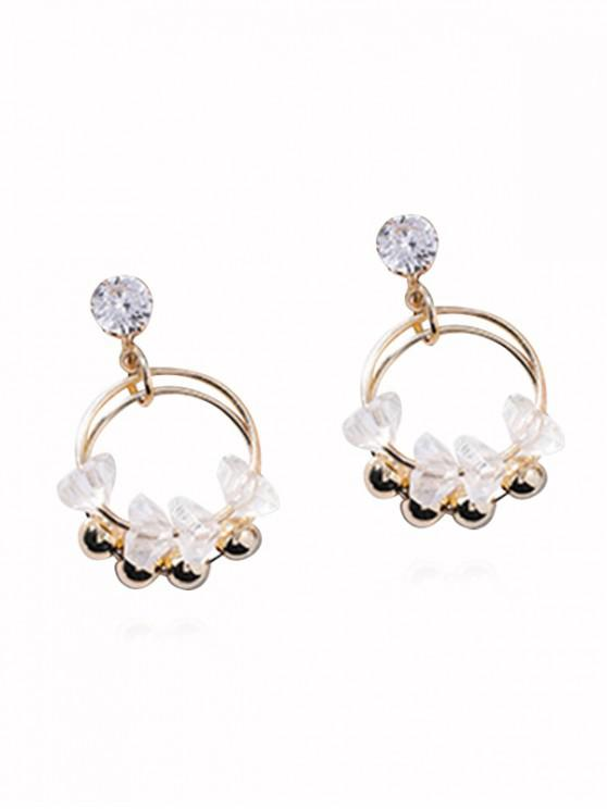 unique Beads Crystal Earrings - WHITE