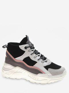 Mid Top Platform Sneakers - Light Pink Eu 40
