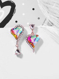 Heart Pattern Dangle Earrings - Fantastic