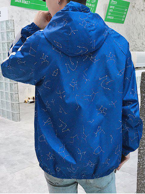Veste Zippée Rayée Horoscope Imprimé - Bleu 3XL Mobile