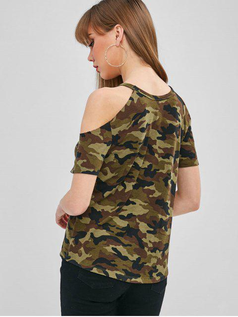 Camiseta Camo Hombro Frío - ACU Camuflaje M Mobile