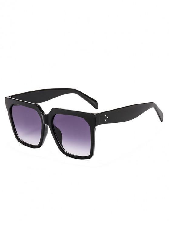 Gafas de sol unisex con montura cuadrada retro - Negro