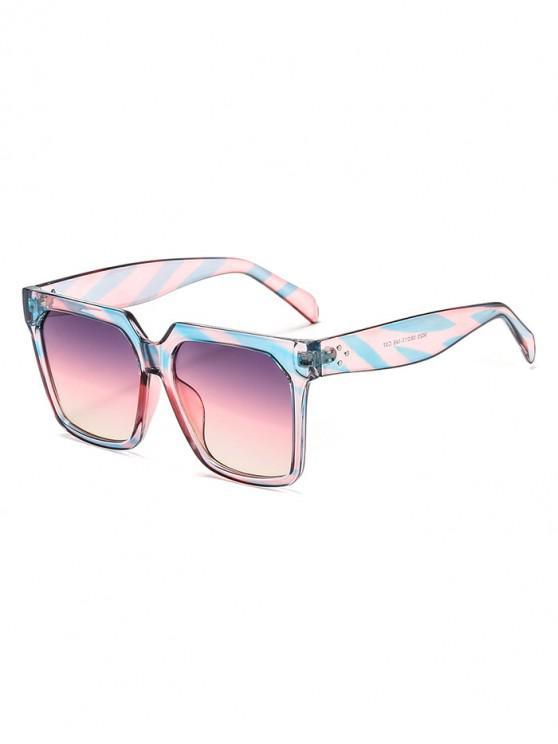 Gafas de sol unisex con montura cuadrada retro - Multicolor