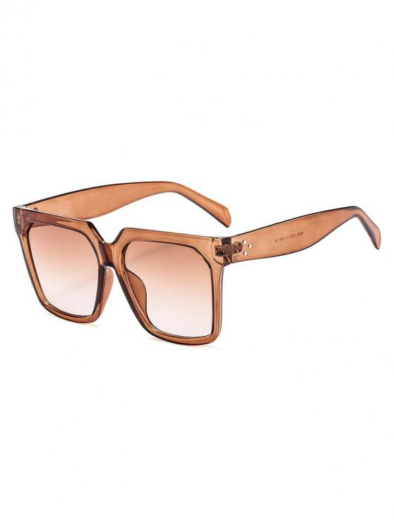new Unisex Retro Square Frame Sunglasses - COFFEE