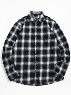 Tartan Print Casual Shirt - Black 2xl