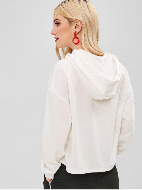 Sweat à capuche graphique ZAFUL en forme de coeur - Blanc M Mobile