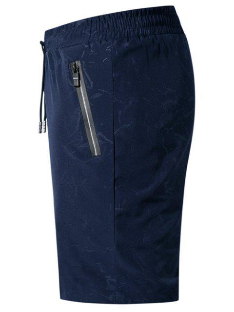 online Water Printed Casual Beach Shorts - DEEP BLUE L Mobile