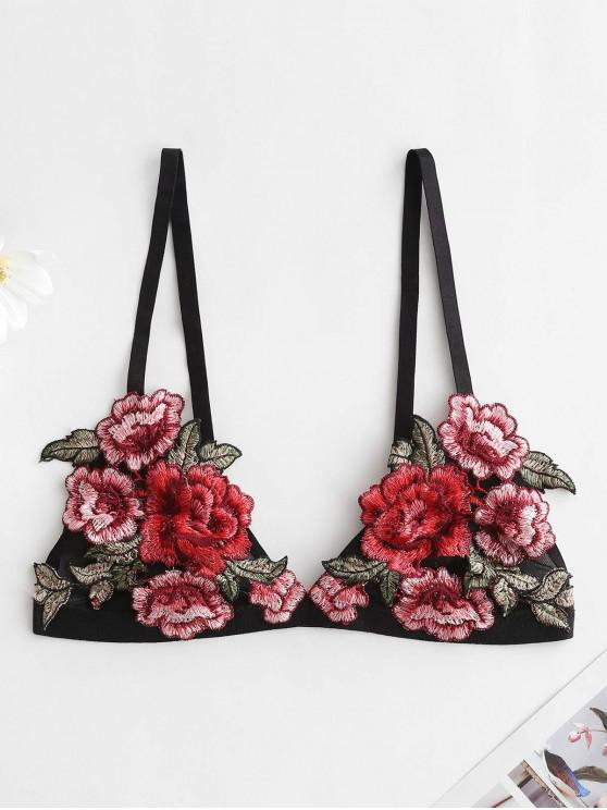 f191496ef4f5ba 19% OFF  2019 Floral Embroidered Bralette Lingerie Bra In MULTI-A ...