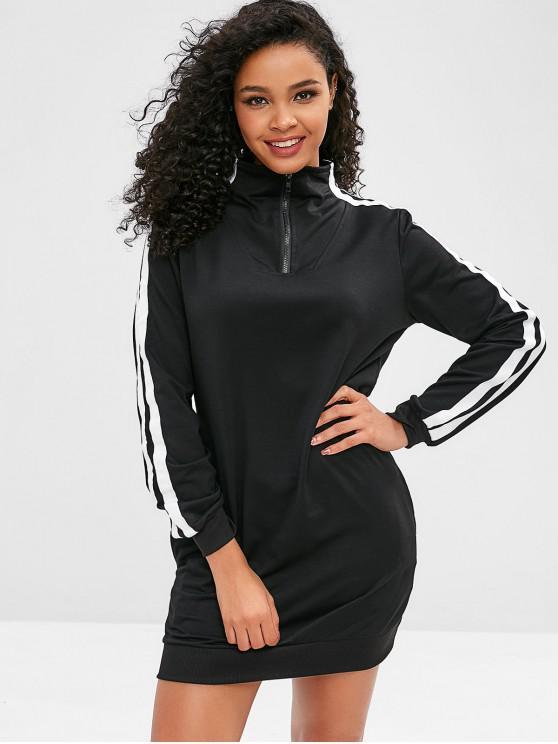 new ZAFUL Pullover Sweatshirt Dress - BLACK M