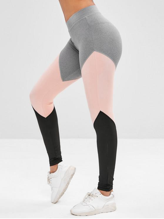 Leggings sportivi da palestra Athletic Color Block - Grigio M