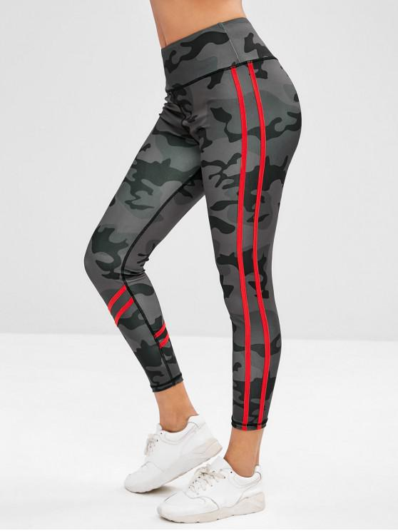 online ZAFUL Camo Wide Waistband Workout Leggings - ACU CAMOUFLAGE S