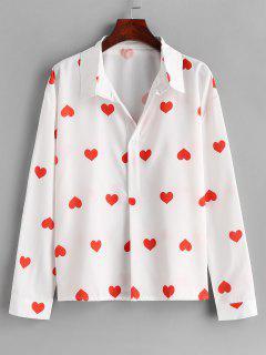 Chemise Boutonnée Cœur - Blanc M