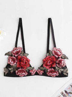 Floral Embroidered Bralette Lingerie Bra - Multi-a S