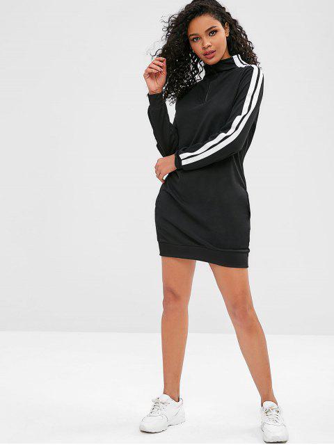 ZAFUL Pullover Sweatshirt Kleid - Schwarz L Mobile
