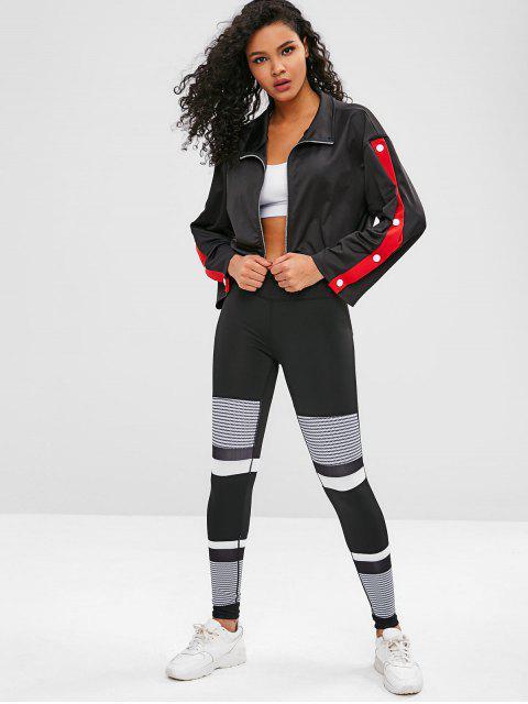 Sweatshirt mit kontrastfarbenem Reißverschluss an der Schulter - Schwarz S Mobile