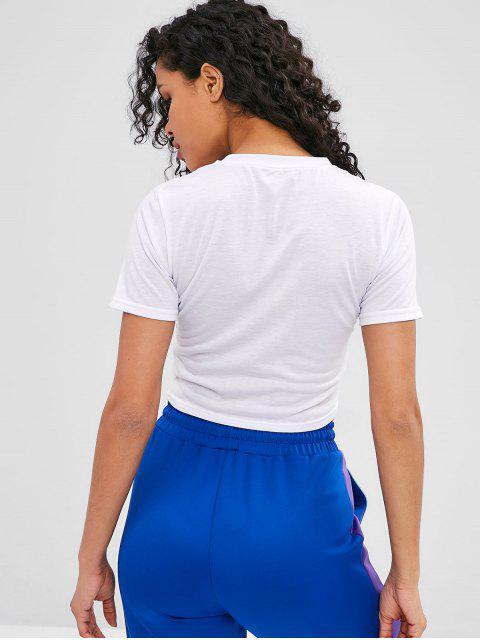 Camiseta Rainbow Crop - Blanco S Mobile