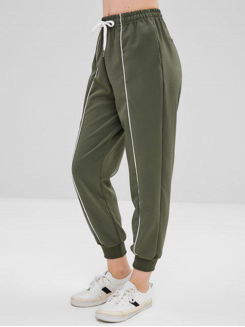 ZAFUL-Seitentaschen mit hoher Taille und Joggerhose - Tarnanstrich Grün S Mobile