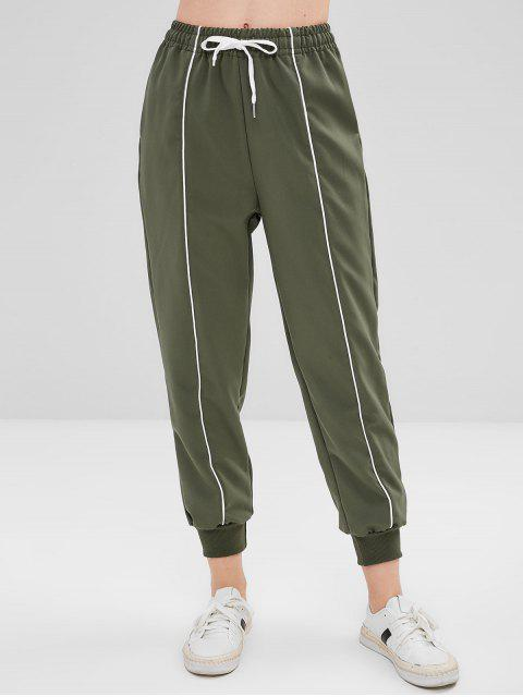 ZAFUL-Seitentaschen mit hoher Taille und Joggerhose - Tarnanstrich Grün L Mobile