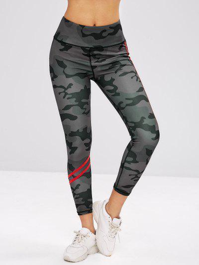 3b5a8c847a ... ZAFUL Camo Wide Waistband Workout Leggings - Acu Camouflage S