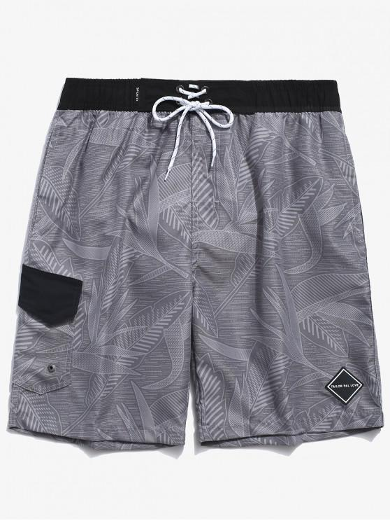 Folhas de impressão Applique Shorts Board - Cor Cinza de Navio de Guerra S