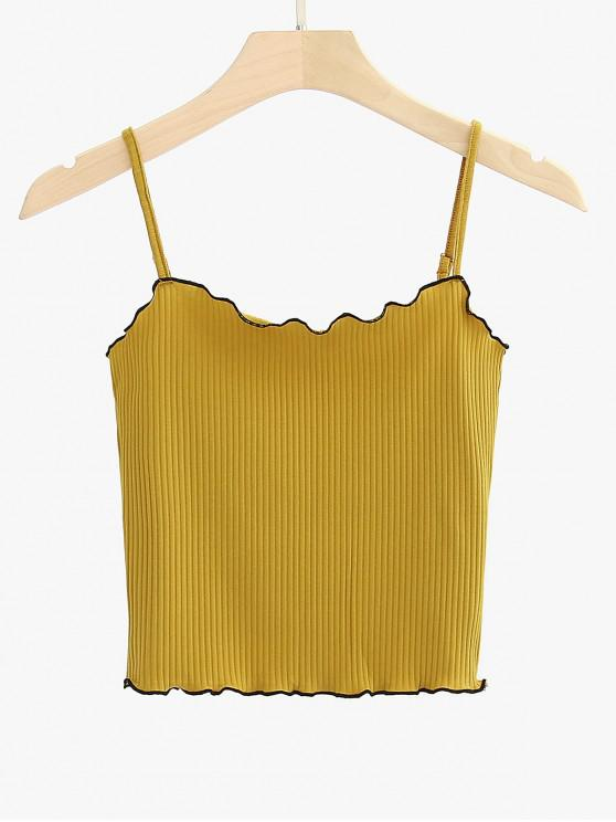 buy Lettuce Trim Piping Cami Top - YELLOW ONE SIZE