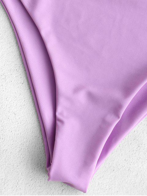 ZAFUL Twisted hundiendo traje de baño sin espalda - Color de malva S Mobile