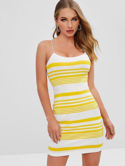 20af5092685 ... Conful Stripes Cami Bodycon Dress - Yellow M
