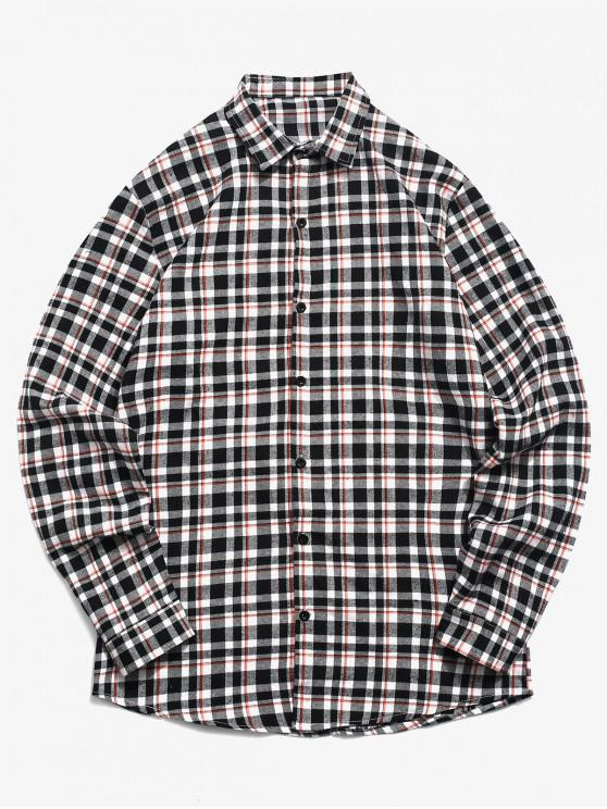 best Tartan Print Button Up Shirt - WHITE 2XL