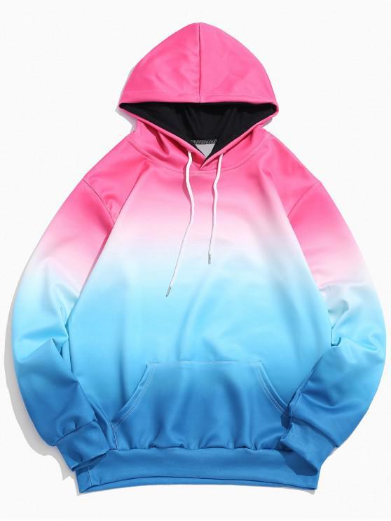 Ombre Pocket - Elastischer Hoodie - Rosa XS
