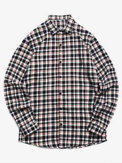 Chemise Boutonnée à Imprimé Tartan - Blanc 2xl