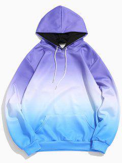 Ombre Pocket Elastic Hoodie - Ocean Blue Xl
