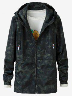 Camo Printed Zipper Jacket - Green 3xl