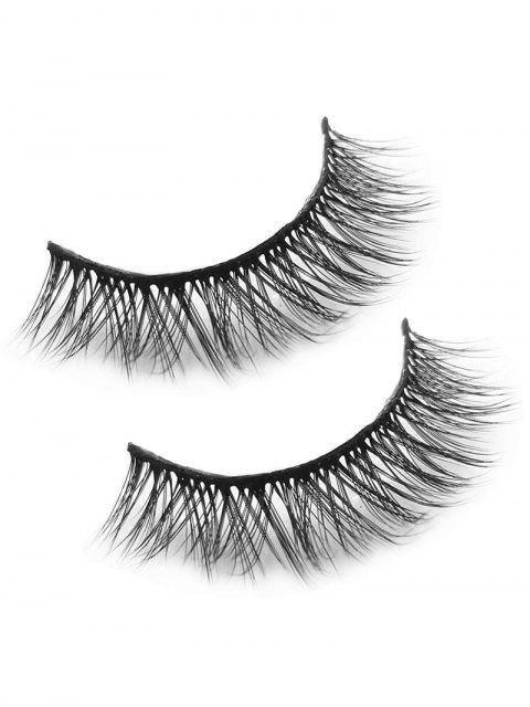affordable Makeup Tool Mink Hair False Eyelashes - BLACK  Mobile
