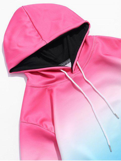 Sweat à Capuche Elastique Ombré avec Poche - Rose  XS Mobile