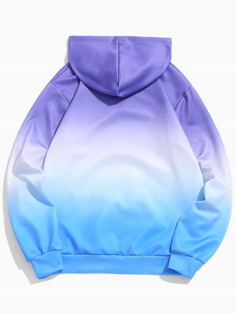 Sweat à Capuche Elastique Ombré avec Poche - Bleu Océan L Mobile