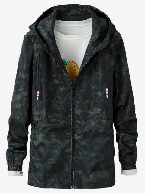 Veste Zippée Camouflage Imprimée - Vert 2XL Mobile