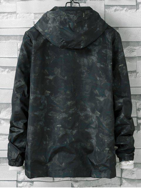 hot Camo Printed Zipper Jacket - GREEN 3XL Mobile