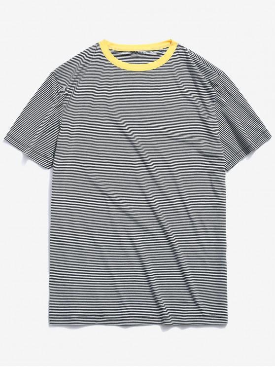 ZAFUL camiseta clásica con estampado de rayas - Verde Oscuro 2XL