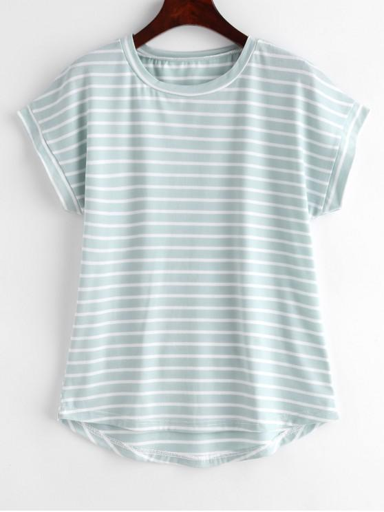 womens Short Sleeve Stripes Tee - MULTI M