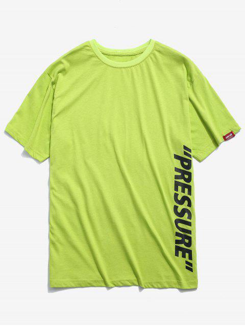 Camiseta impresa letras casuales - Té Verde 2XL Mobile