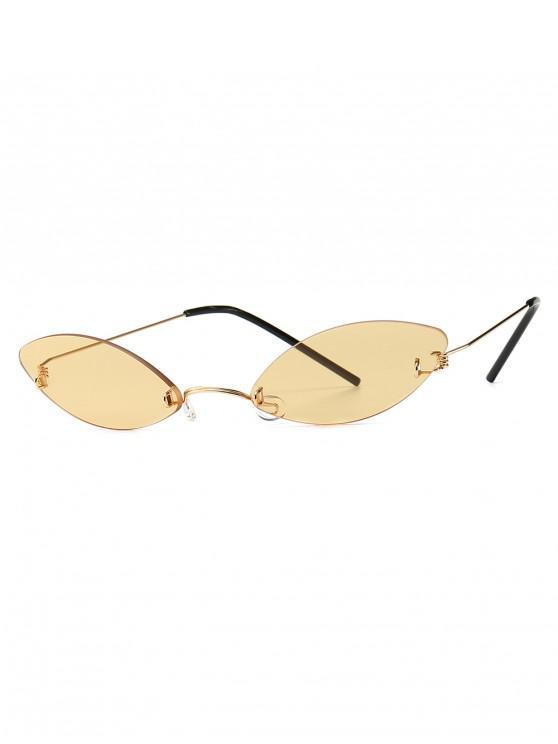 women Modern Style Narrow Lens Sunglasses - YELLOW