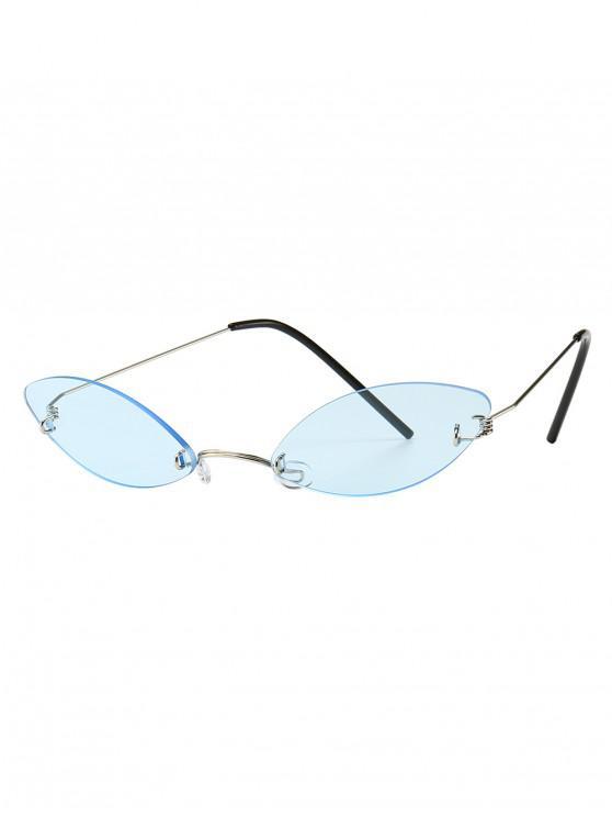 hot Modern Style Narrow Lens Sunglasses - SKY BLUE